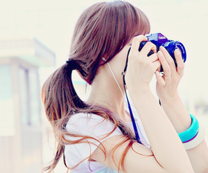 girl, camera, and kfashion image