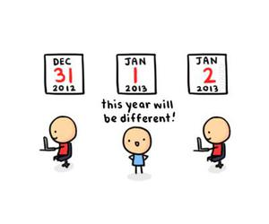 new year, 2013, and funny image