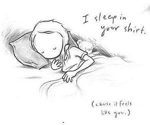 sleep, cute, and love image