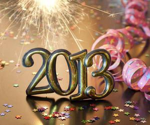 2013, new year, and happy image