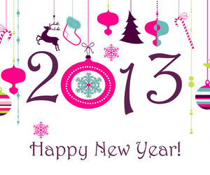 2013 and happy news year image