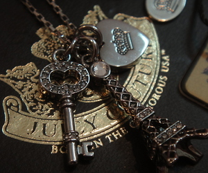 juicy couture, key, and heart image