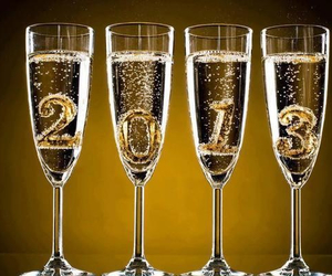 2013, new year, and champagne image