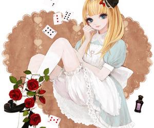alice, dress, and anime image