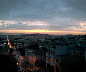 clouds, dawn, and san francisco image