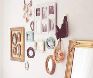 decoration, mirror, and pastel image
