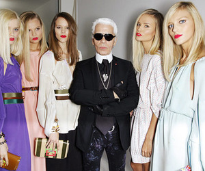 karl lagerfeld, model, and fashion image