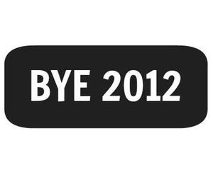 2012, black and white, and bye image