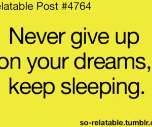 Dream and sleep image