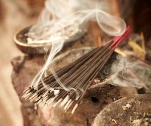 incense and smoke image