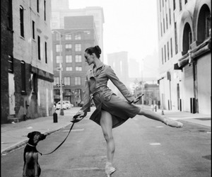 ballet, dog, and ballerina image