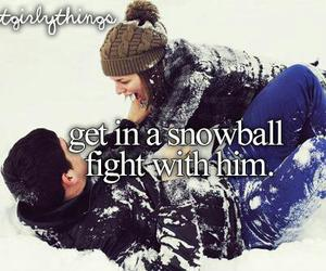 love, snowball, and snow image
