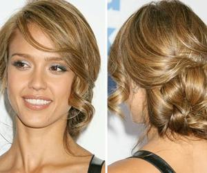 hair, hairstyle, and jessica alba image