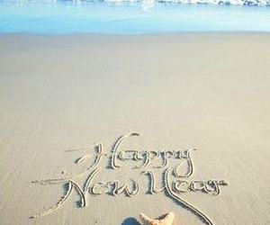 beach, happy, and new year image