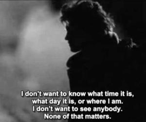 into the wild, quote, and black and white image