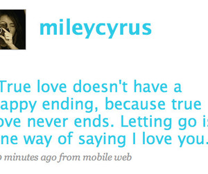 miley cyrus, twitter, and quote image