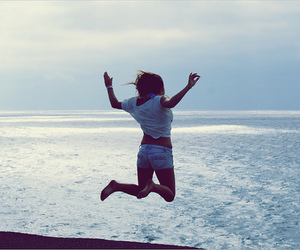 girl, jump, and cute image