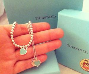 hearts, lightblue, and necklace image