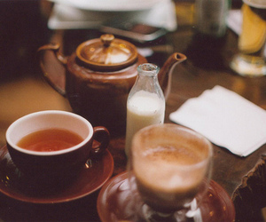 tea, milk, and vintage image