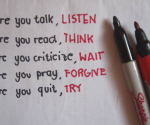 quote, listen, and text image