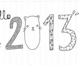 2013 and cat image