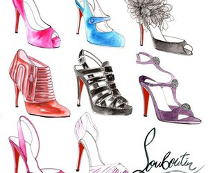 shoes, louboutin, and illustration image