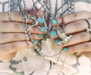 bird, fashion, and rings image