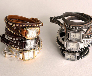 fashion, studs, and watches image