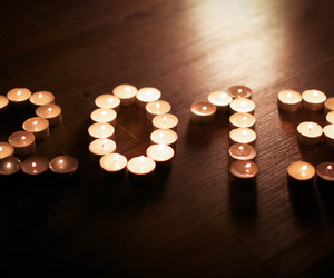 candle, light, and new year image