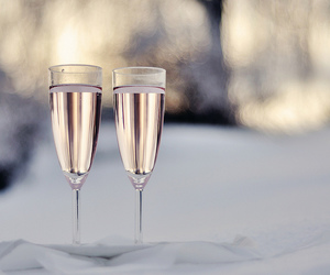 champagne, drink, and winter image