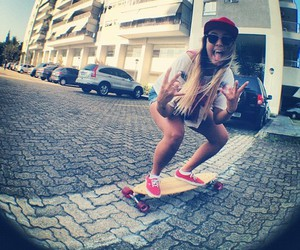 girl, skate, and swag image