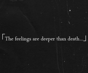 death, feelings, and quote image