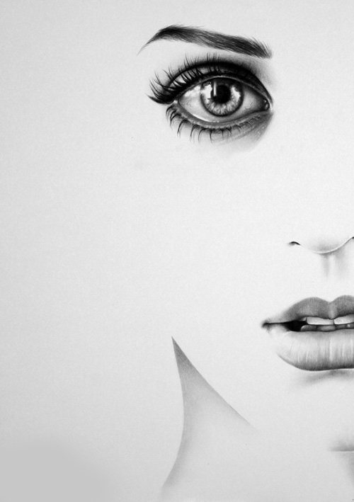 Beautiful black and white drawing eyes inspiring picture on favim com