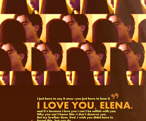 delena, damon, and elena image