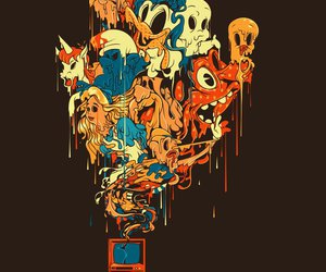 cartoon, horrors, and colors image