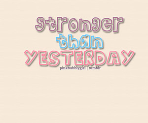 Stronger and typography image
