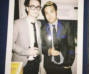panic! at the disco, brendon urie, and pete wentz image