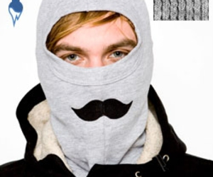 american apparel, mask, and moustache image