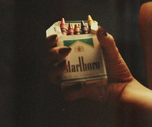 marlboro, cigarette, and crayon image