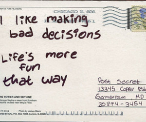quotes, fun, and postcard image
