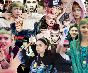 grimes, girl, and Collage image