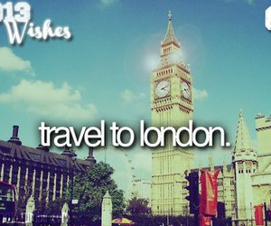 london, travel, and wish image