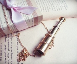 necklace, pink, and ribbon image