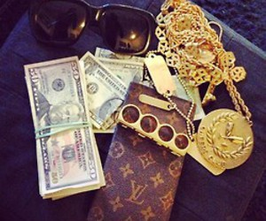 money, gold, and swag image