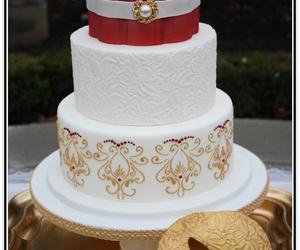 cake, decoration, and masks image