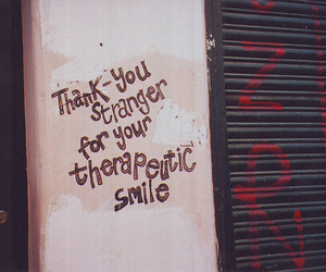 smile, stranger, and text image