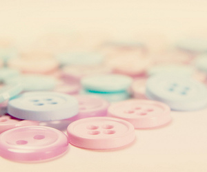 pastel, buttons, and pink image