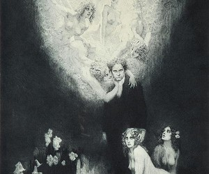 angels, man, and drowing image