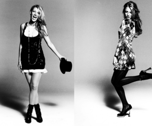 blake lively and black and white image