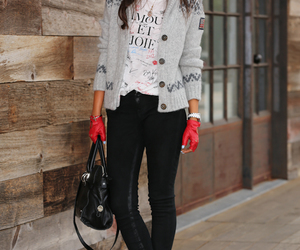 fashion, girl, and gloves image